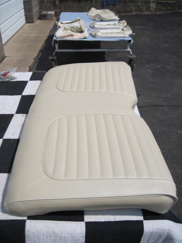 1965 Ford Mustang Convertible-Seat upholstery | Maple Hill Restoration