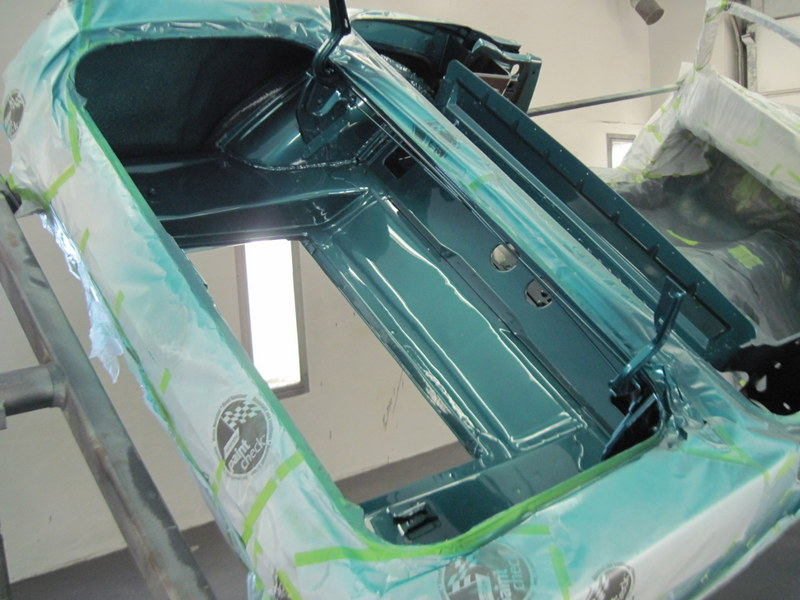 1965 Mustang Refinishing Inside Of Trunk Maple Hill
