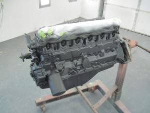 One coat of PPG's DP epoxy primer has been applied to the engine.