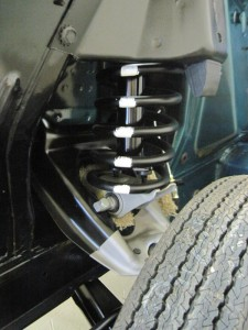 The original paint markings were copied and reinstalled on this 1965 Mustang coil springs.
