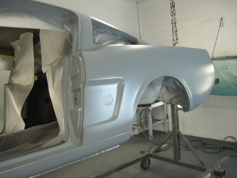 1966 Shelby Mustang Epoxy Priming The Body Maple Hill