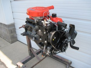 The engine has been completed and is ready for reassembly  into the car.