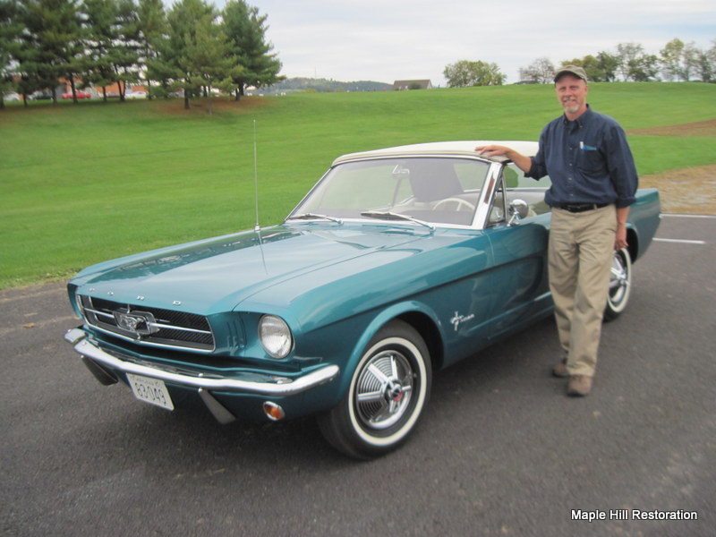 1965 Twilight Turquoise Ford Mustang Completed   Maple ...