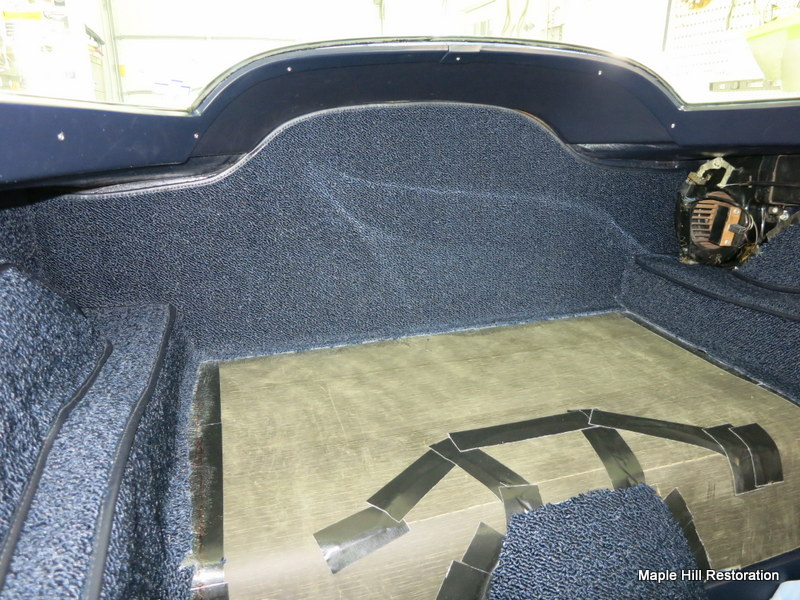 1964 Chevrolet Corvette New Carpet Installation Maple