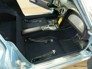 New front carpet and seat belts have been installed