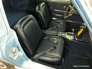 The front seats have been reinstalled back into the car