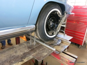 Setting the toe-in on the rear wheels