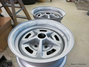There was some light body work to be done to the rim of the wheel due to a previous owner having installed trim rings on the wheels