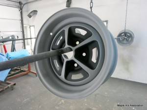 Wheels have been clear coated with a matte clear finish