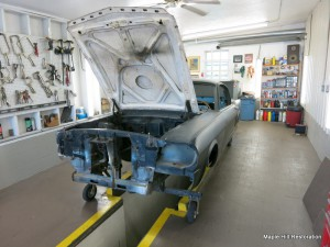 Finishing the diassasebly of the  1966 Shelby GT350