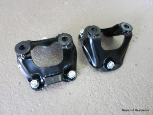 Front shock mounts refinished with new hardware