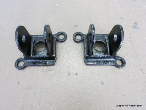 Traction bar mounts refinished