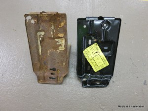 Old and new battery tray