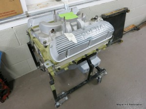The original 289 high performance engine for the 1966 GT 350 has come back from the engine builder and is ready to be painted and detailed