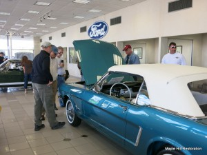 Our 1965 Ford Mustang in Twilight Turquoise was a popular conversation piece