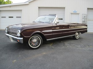 This is a 1963 Ford Falcon Futura convertible.  My dad bought this car in the mid 1970's for $600.00. It only had 40,000 actual miles then.  It had all original paint, interior, and chrome.  We drove it regularly as the family car for several years then my dad put it into storage and saved it back.  In the mid 1990's I did a cosmetic restoration on the car.  It is a rust free body with all original sheet metal with all original interior except new carpeting.  I did strip and repaint the outside body and door jams, rechromed some of the original pieces and polished the rest that could be polished. The car now has 68,000 original miles. The engine and suspension has never been out of the car.  This car is driven to shows which has won the AACA  Jr, Sr, and preservation awards.