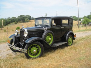 Our 1931 Ford Model A is a car that we purchased for a customer. It was fixed up in the 1970's. It's a presentable looking driver car that is used for a lot of VMCCA and AACA tours.  It has been to Michigan, Pa, Maryland, WV and other areas on antique car tours. It has the original engine but has been upgraded to make it tour worthy with an overdrive transmission and cast iron brake drums to help with a better stopping ability and some engine modifications to increase the horse power to enable it to maintain speed in todays traffic.  It is also used from time to time in weddings.