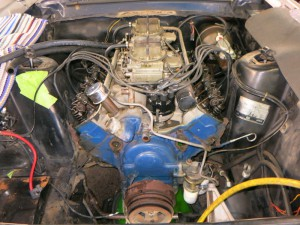 Components were disassembled for easier removal of the engine