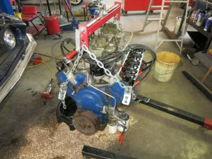 428 engine removed from the Shelby