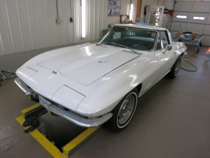 This 1967 Corvette with mostly original paint is in for cosmetic maintenance and repairs